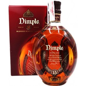 Whisky Dimple 15 años 43%...