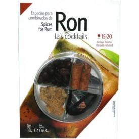 Especias para Ron 18gr.+...