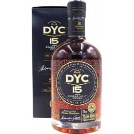 Whisky DYC 15 años 60...