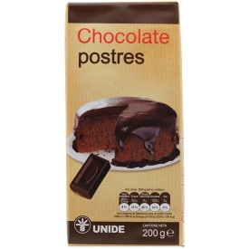 Chocolate postres Unide 200g
